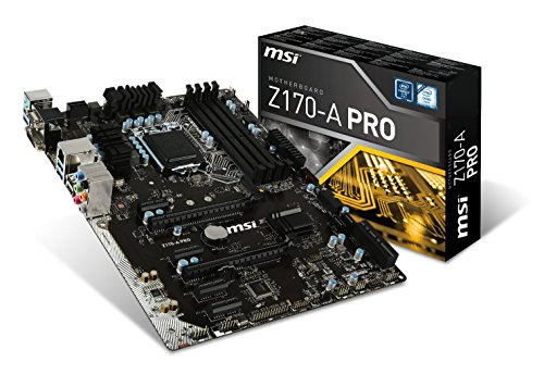 MSI Pro Solution Intel Z170A  LGA 1151 DDR4 USB 3.1 ATX Motherboard (Z170-A Pro) (Cooler Master Geminii M4 compare prices)