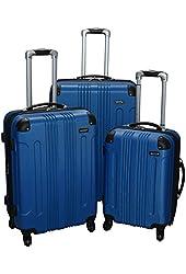 Kemyer 650 Lightweight 3-PC Expandable Hardside Spinner Luggage Spinner Set