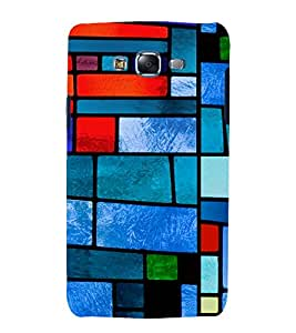 printtech Glass Colored Abstract Tiles Back Case Cover for Samsung Galaxy Core 2 G355H