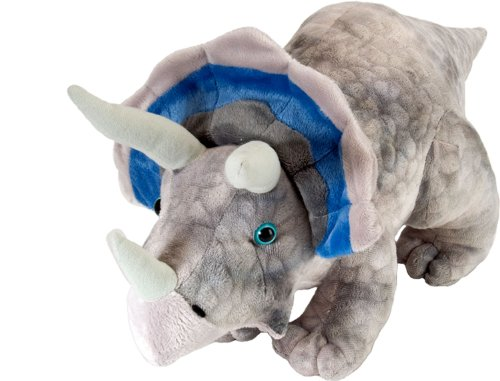 "Wild Republic Dinosauria Mini Triceratops 10"" Plush"