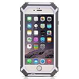 HAMSWAN iPhone6/6s用 防水保護ケース IP68テスト承認 防水 防塵 耐衝撃 カバー  指紋認識 本体液晶保護フィルム付き 4.7インチ アイフォン6/6sに適用する 3色の選択 グレー