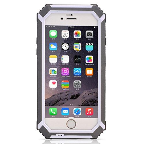 HAMSWAN iPhone6ケース IP68テスト承認 防水 防塵 耐衝撃 指紋認識 ワンステップ成形技術 防水保護ケース iPhone6 4.7'' に対応  ノーマナーモードのスイッチ  4色の選択 グレー
