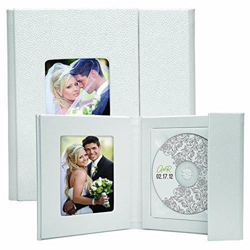 White Supreme CD/DVD Holder with Photo