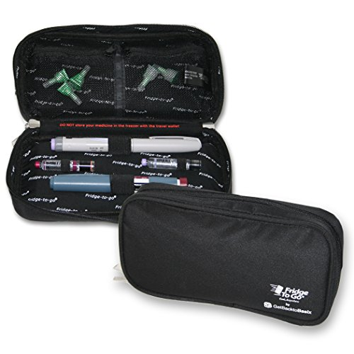 Medical Insulin Cooler Travel Bag with Cooling Panels - FRIDGE-TO-GO Keeps diabetics medication cool plus free freezer bag - INSULATED Epipen Case - FDA Approved STANDARD (Diabetic Insulin Cooler compare prices)