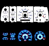91-94 Mazda Navajo B-series Mazda Navajo/Mazda B2200 / B2300 / B3000 / B4000 Pick-Up with tach RPM Blue Indiglo Glow White Gauges