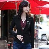 Corée Madame élégante de grande taille Slim Casual Tempérament petit manteau de costume