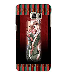 PrintDhaba Long Hair Animated Girl D-3571 Back Case Cover for SAMSUNG GALAXY NOTE 5 (Multi-Coloured)