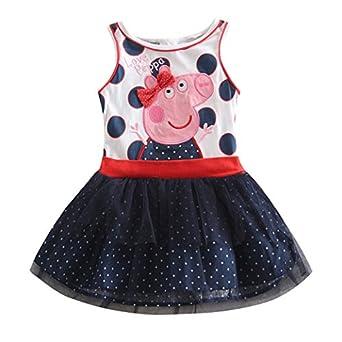 Peppa Dress Tutu Birthday Dress Vestido Peppa Pig Girls