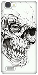 The Racoon Grip Skulls hard plastic printed back case / cover for Vivo V1