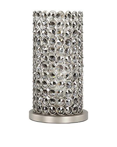 Surya Dauphine 13 Table Lamp, Brushed Nickel