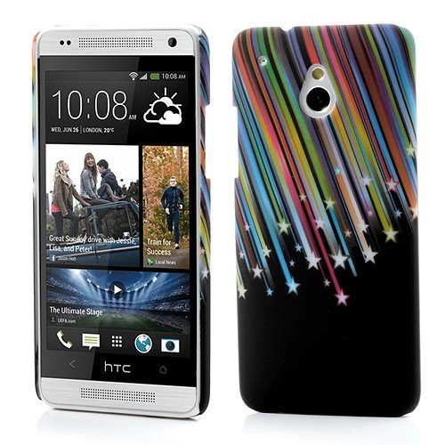 Jujeo Slim Hard Shell Colorized Meteor Shooting Star Pattern For Htc One Mini M4 - Non-Retail Packaging - Multi Color