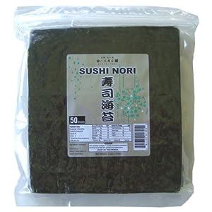 Sushi Nori Seaweed Sheets - 50 Sheets - Mikoshi Trading Hawaii