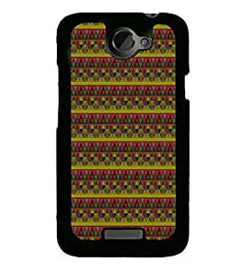 Colourful Pattern 2D Hard Polycarbonate Designer Back Case Cover for HTC One X :: HTC One X+ :: HTC One X Plus :: HTC One XT