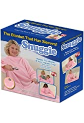 Snuggie Fleece Blanket with Sleeves, Cotton Candy Pink