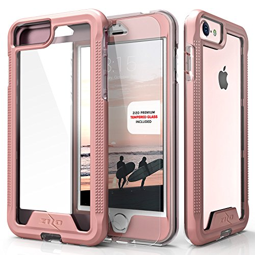 Zizo ION Cover for iPhone 7 Case [0.33MM 9H Tempered Glass Screen Protector] Shockproof Protection and [Impact Dispersion Technology]