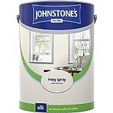 Johnstones No Ordinary Paint Water Based Interior Vinyl Silk Emulsion Ivory Spray 5 Litre