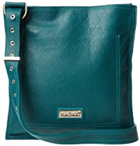 Hadaki Leather Scoop Sling HDK804 Shoulder Bag,Dark Teal,One Size