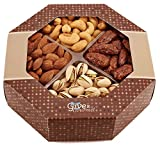 GIVE IT GOURMET, Freshly Roasted Delicious Healthy Nuts Gift Basket (Medium Gift Tray)