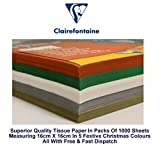 1000 Sheet Christmas Assorted Tissue Paper 16cm x 16cm 18g