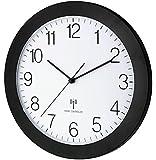 Funk-Wanduhr TFA 60.3512.01 mattschwarz mit Lautlos Sweep-Uhrwerk 300 mm
