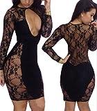 xhorizon-TM-FLK-Sexy-Bandage-Floral-Hollow-Lace-Outfit-Clubwear-Bodycon-Dress