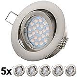 LED Einbauleuchten - GU10 5W Warmweiss 230V - Bajonett Einbaurahmen