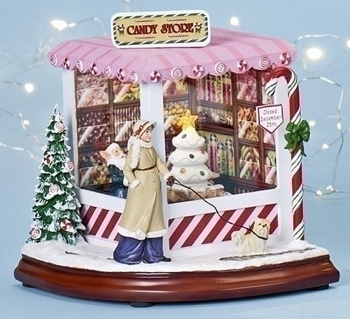 Christmas Decoration - North Pole Candy Store - Lighted, Musical and Animated Decoration