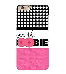 Save The Boobies Cute Fashion 3D Hard Polycarbonate Designer Back Case Cover for Micromax Canvas Knight 2 E471