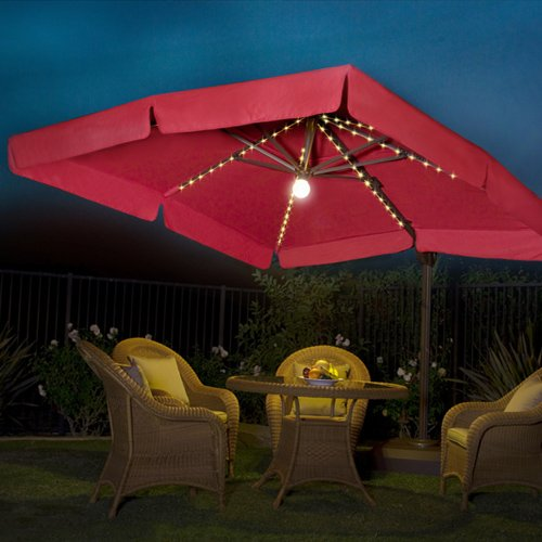 Lighted Umbrella For Patio Fascinating Buy Cheap Milano Pro 60' Square Lighted Offset Patio Umbrella