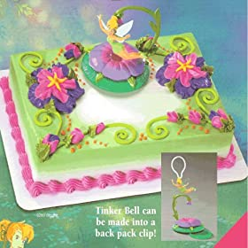 Tinkerbell Cakes - 1 Do It Yourself Tinkerbell Dangler Licensed Re-Usable Cake Topper