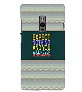 ONE PLUS TWO EXPECT NOTHING Back Cover by PRINTSWAG