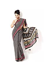 Aaradhya Bagru Hand Block Print Cotton Saree For Women - B00TF0DFD0