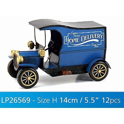 Lesser & Pavey 12-Piece Metal Vintage Delivery Van Collectible, Blue