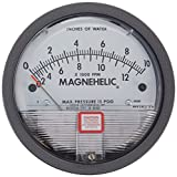Dwyer Magnehelic Series 2000 Differential Pressure Gauge, Range 0-10