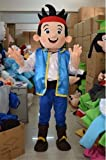 Jake and the Never Land Pirates Jake Mascot Cosplay Costume Cartoon Character Fancy Dress thumbnail