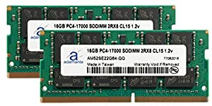 Adamanta 32GB (2x16GB) Laptop Memory Upgrade for HP EliteBook 850 G3 DDR4 2133Mhz PC4-17000 SODIMM 2Rx8 CL15 1.2v Notebook DRAM