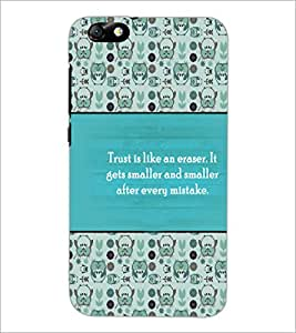 PrintDhaba Quote D-4178 Back Case Cover for HUAWEI HONOR 4X (Multi-Coloured)