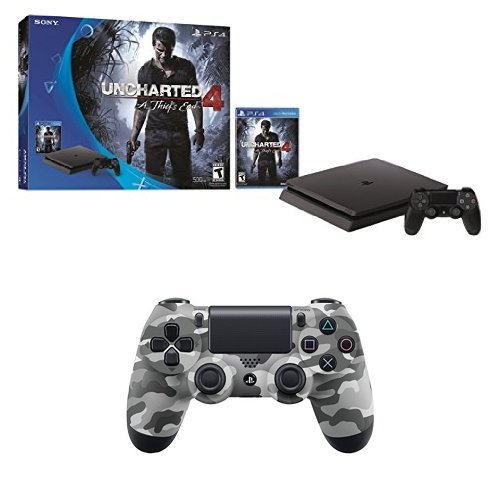 playstation-4-slim-500gb-uncharted-4-console-extra-controller-bundle