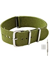 Barron Watch Company Nylon strap with spring bar tool and 4 spring bars included - [BWC]