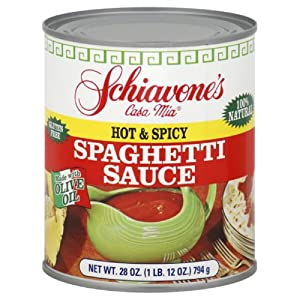 Schiavone Hot Spicy Spaghetti Sauce 28-ounce Pack Of 6 from Schiavone