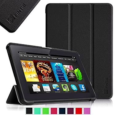 "Fintie Amazon All- Kindle Fire HDX 7"" SmartShell Case Cover Ultra Slim Lightweight with Auto Sleep / Wake Feature - Black"
