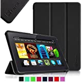 "Fintie Amazon Kindle Fire HDX 7"" SmartShell Case Cover Ultra Slim Lightweight with Auto Sleep / Wake Feature - Black"