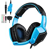 Gaming Headset For PS4 Xbox360 PC IPhone Smart Phone Laptop IPad IPod Mobilephones, Sades SA-920 Multi Function...