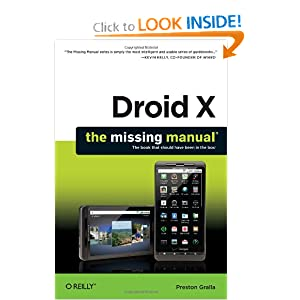 Oreilly Droid X The Missing Manual