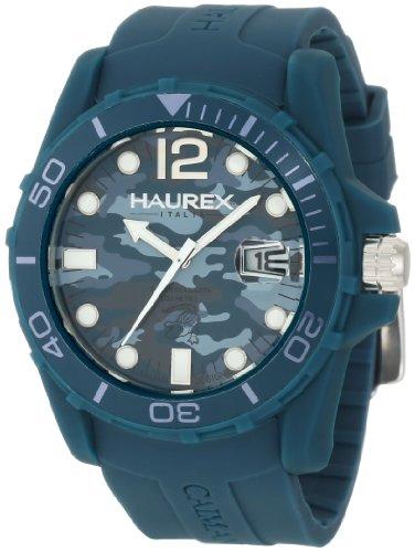 Haurex Italy B1354UCB - Reloj para hombres, correa de goma color verde