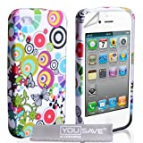 iPhone 4 / 4S Multicoloured Circles & Butterflies Silicone Caseby Yousave Accessories