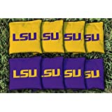 NCAA Replacement Corn Filled Cornhole Bag Set NCAA Team: Louisiana State University Tigers