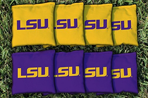 NCAA Replacement Corn Filled Cornhole Bag Set NCAA Team: Louisiana State University Tigers (Ncaa Corn Hole compare prices)