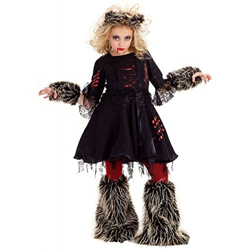 GSG Howlette Werewolf Costume Tween Kids Female Wolf Halloween Fancy Dress (Werewolf Outfits Halloween)