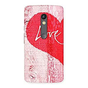 Enticing Love Pink Multicolor Back Case Cover for Moto X Play